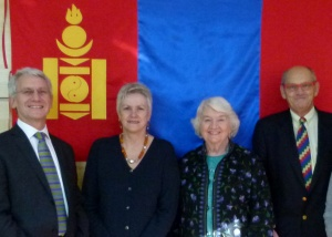The first official UK health delegation to Mongolia, 2012, with team colleagues Chris Born, June Crown and Peter Farmer